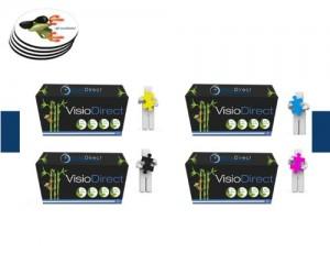 Pacco di quattro Toner Cartucce di inchiostro (CE310A) Nero 1200 Pagine, (CE311A) Ciano/Azzuro (CE312A) Giallo et (CE313A) Magenta 1000 Pagine generico per stampante HP LASERJET PRO CP1025w Certificato ISO 9001 ISO 14001 + (Offerte sottotazza) - Visiodirect -
