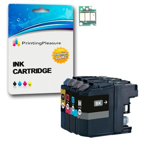 Printing Pleasure - ( 1Set ) High Quality Cartucce di inchiostro LC123 Con Chip Compatibile Per Brother Stampanti DCP-J132W, DCP-J152W, DCP-J4110DW, DCP-J552DW, DCP-J752DW, MFC-J4410DW, MFC-J4510DW, MFC-J4610DW, MFC-J470DW, MFC-J4710DW, MFC-J650DW, MFC-J6520DW, MFC-J6720DW, MFC-J6920DW, MFC-J870DW