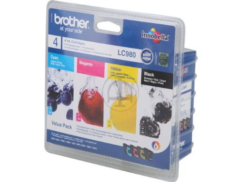 Brother 4 cartucce originali  LC-980 LC980 DCP-145C MFC-250C