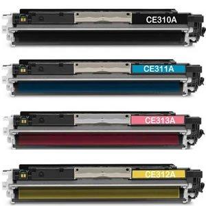 4pz x Toner Colore Compatibile HPCE310A+HPCE311A-CE312A+CE313A, Nero+Ciano+Magenta+Giallo, HP Stampanti HP LASERJET PRO M175NW , M175A , CP1025 , CP1025NW , M275 ,Canon LBP 7010C ,Canon 7018C - SET COMPLETO