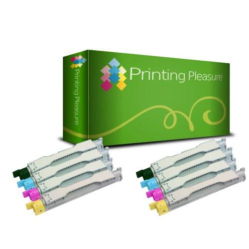 Printing Pleasure - ( NON-OEM ) - ( 2Set ) High Quality Cartuccia Toner C4200 Rigenerate Per Epson Stampanti AcuLaser C4200, C4200DTN