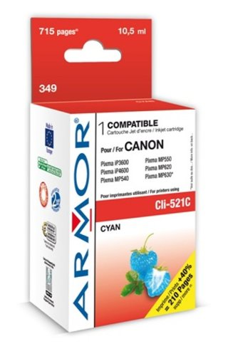 Armor B12466R1 CLI-521C Pixma IP3600 Inkjet / getto d'inchiostro Clone/rigenerato