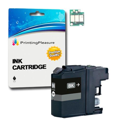 Printing Pleasure - 1 Nero High Quality Cartucce di inchiostro LC123 Con Chip Compatibile Per Brother Stampanti DCP-J132W, DCP-J152W, DCP-J4110DW, DCP-J552DW, DCP-J752DW, MFC-J4410DW, MFC-J4510DW, MFC-J4610DW, MFC-J470DW, MFC-J4710DW, MFC-J650DW, MFC-J6520DW, MFC-J6720DW, MFC-J6920DW, MFC-J870DW