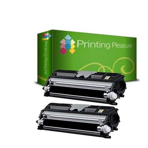 Printing Pleasure - ( NON-OEM ) - 2 Nero High Quality Cartuccia Toner C1600 Rigenerate Per Epson Stampanti Aculaser C1600, CX16, CX16DNF, CX16NF