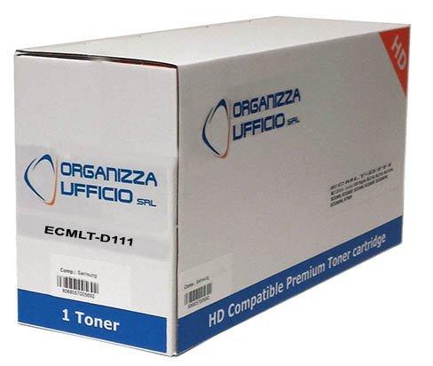 Organizza Ufficio Cartuccia Toner per Samsung SL-M2020w, SL-M2022, SL-M2022W, SL-M2070, SL-M2070FW, SL-M2070W, 1.800 Copie, Compatibile, Mod. I-MLT-D111S/L
