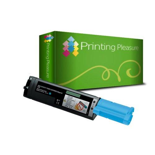 Printing Pleasure - ( NON-OEM ) - 1 Ciano High Quality Cartuccia Toner C1100 Rigenerate Per Epson Stampanti AcuLaser C1100, C1100D, C1100DN, C1100N, CX11N, CX11NF, CX11NFC, CX11NFT