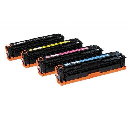 CB540A CB541A CB542A CB543A Compatibile Laser Cartucce toner per HP Color LaserJet CP1210 CP1215 CP1215N CP1217 CP1510 CP1514 CP1514N CP1518 CP1515n CP1518ni CM1312 CM1312NF CM1312N fax stampanti, set completo, nero, ciano, magenta e giallo