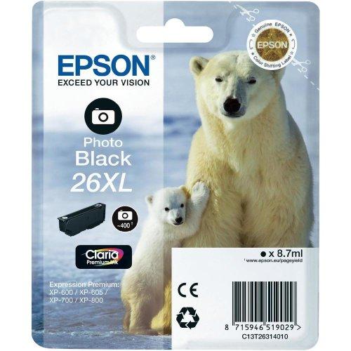 Epson C13T26314010 Photo Black 26XL, 8.7 ml, Inkjet / Getto d'Inchiostro Cartuccia Originale