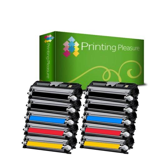 Printing Pleasure - ( NON-OEM ) - ( 2Sets + 2BK ) High Quality Cartuccia Toner C1600 Rigenerate Per Epson Stampanti Aculaser C1600, CX16, CX16DNF, CX16NF