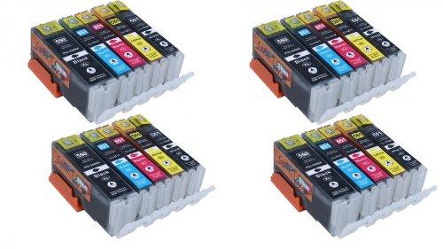Start - 20 XL CHIP Cartucce compatibili per Canon PGI-550BK XL Nero, CLI-551BK XL Photo-Nero, CLI-551C XL Ciano, CLI-551M XL Magenta, CLI-551Y XL Giallo