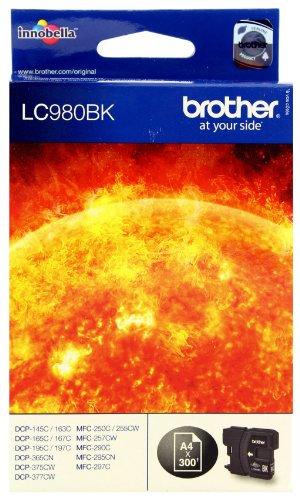Brother LC-980BK DCP-165C Inkjet / getto d'inchiostro Cartuccia originale