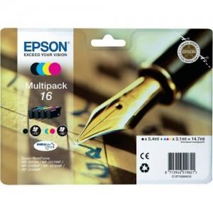 Epson C13T16264010 cartuccia d'inchiostro MultiPack 16 per Workforce WF 2010 W/2510 WF/2520 NF/2530 WF/2540 WF