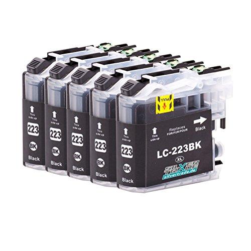 5 cartucce inchiostro compatibile per Brother LC223XL nero con chip per Brother DCP-J4120DW / MFC-J4420DW / MFC-J4620DW / MFC-J4625DW / MFC-J4425DW / MFC-J5320DW / MFC-J5620DW / MFC-J5625DW / MFC-J5720DW