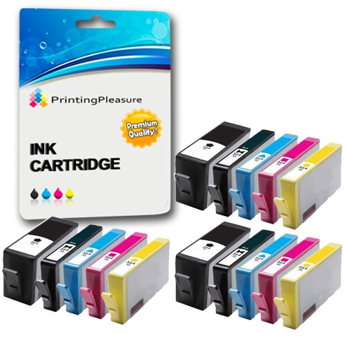 Printing Pleasure - 15 di 5 pacchetto High Quality Cartuccia d'inchiostro HP 364XL Con Chip Rigenerate Per HP Stampanti Photosmart 6520, 7510, 7520, B8550, B8553, C5380, C5383, C5390, C6300, C6380, D5460, D7560, C309, C309g, C309h, C309n, C310, C310a, C309a, C309c, e-All-In-One C410b