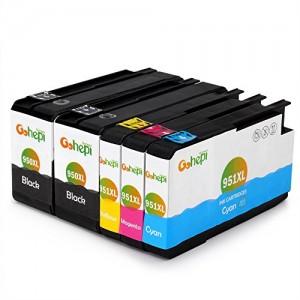 Gohepi 950XL/951XL Compatibile per Cartucce HP 950XL 951XL, 2 Nero/Ciano/Magenta/Giallo 5-Pacco Funzionano con HP Officejet Pro 8600 8610 8620 8100 276dw 251dw 8630 8640 8660 8615 8625