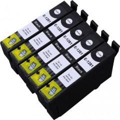5 Multipack Alta Capacità Epson T1285 Cartucce Compatibles 5 nero compatibile con Epson Stylus Office BX305F, Stylus Office BX305FW, Stylus Office BX305FW Plus, Stylus S22, Stylus SX125, Stylus SX130, Stylus SX230, Stylus SX235W, Stylus SX420W, Stylus SX425W, Stylus SX430W, Stylus SX435W, Stylus SX438W, Stylus SX440W, Stylus SX445W. Cartucce Compatible. T1281 © Cartuccia Land