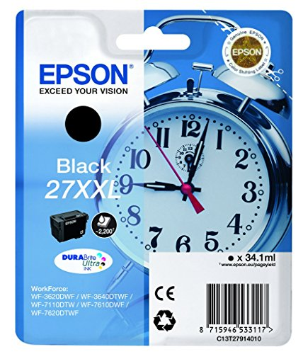Epson C13T27914010 Cartuccia Inkjet 27XXL, Alta Capacità, 34.1 ml, Nero