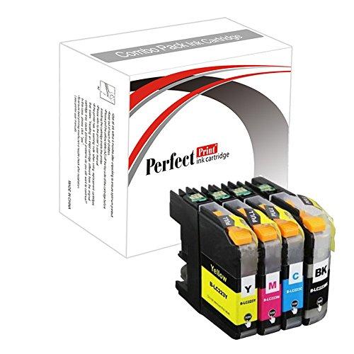 Set di 4 Compatibile cartuccia di inchiostro Sostituire LC223 per Brother DCP-J4120DW MFC-J4420DW MFC-J4620DW MFC-J4625DW MFC-J5320DW MFC-J5620DW MFC-J5625DW MFC-J5720DW Stampante