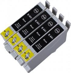 4 Multipack Alta Capacità Epson T0445 Cartucce Compatibles 4 nero compatibile con Epson Stylus C64, Stylus C66, Stylus C84, Stylus C86, Stylus CX3650, Stylus CX6400. Cartucce Compatible. T0441 , TO441 © Cartuccia Land