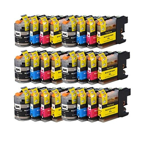 24 compatibile LC-123 / LC123 Cartucce d'inchiostro per Brother DCP-J132W DCP-J152W DCP-J552DW MFC-J650DW DCP-J752DW DCP-J4110DW MFC-J870DW MFC-J4410DW MFC-J4510DW MFC-J4610DW MFC-J4710DW MFC-J470DW