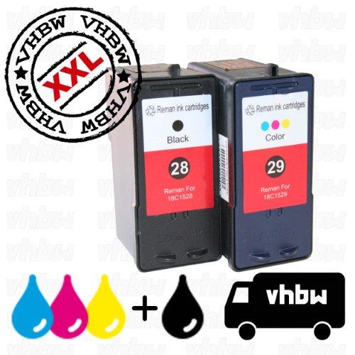 Cartucce stampanti Ink SPARSET BUNDLE inchiostro refill nero e colore compatibile per Lexmark 28 e 29