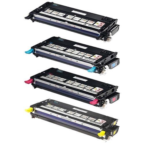 Doitwiser - Cartuccia toner set 4 pezzi compatibile per Dell 3110 3110CN 3115CN 3115, alta resa: 8.000 pagine