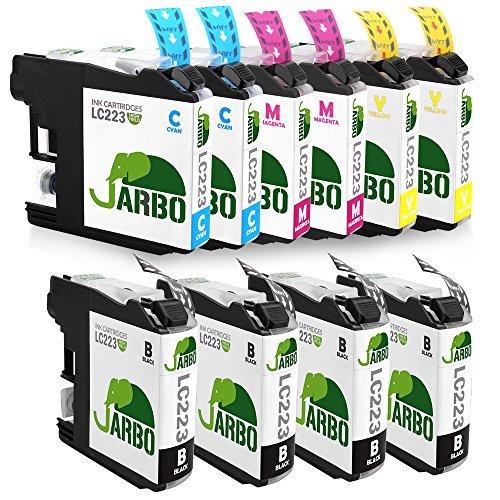 JARBO Compatibile Brother LC 223 Cartucce d'inchiostro 2SET+2Nero ad alto rendimento con i chip new updated Compatibile con Brother MFC-J4420DW J4620DW J4625DW J5320DW J5620DW J5720DW (4 Nero,2 Ciano,2 Magenta,2 Giallo)