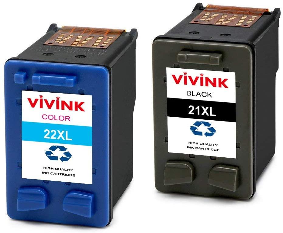 Confezione da 2 cartucce d'inchiostro rigenerate HP 21XL 22XL per HP Deskjet 3940